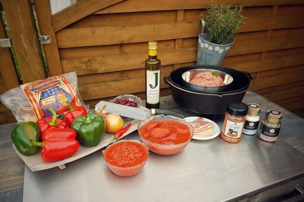 lle Zutaten für das over the top smoked Chili over the top smoked chili-Over the top smoked chili 01-Over the top smoked Chili
