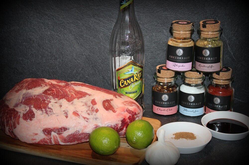 Alle Zutaten für den Caipirinha-Braten auf einen Blick caipirinha-braten-Caipirinha Braten Avocado Salsa 02-Caipirinha-Braten mit Avocado-Salsa