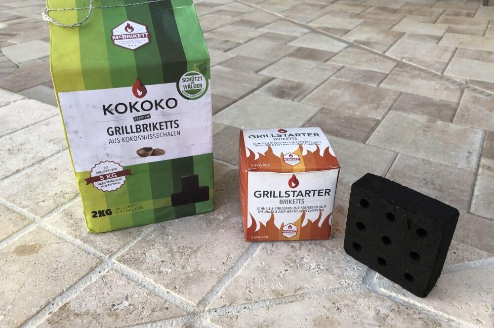 Kokoko Cubes und Grillstarter Briketts im Test mcbrikett grillstarter briketts-McBrikett Grillstarter Briketts 02-McBrikett Grillstarter Briketts & Kokoko Cubes im Test
