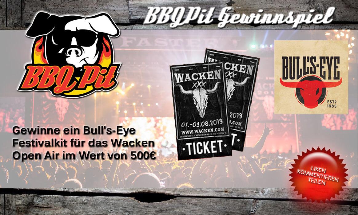 bull's-eye festivalkit-Wacken Bulls Eye Gewinnspiel-Bull's-Eye Festivalkit inkl. 2 Tickets für das Wacken Open Air zu gewinnen (Wert 500€)