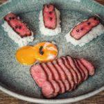 Wagyu F1 Angus Rumpsteak wagyu-angus roastbeef-Wagyu Angus Roastbeef Onsen Ei Sushi Reis 150x150-Wagyu-Angus Roastbeef mit Onsen-Ei und Sushi-Reis